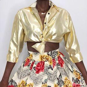VINTAGE | Esprit Collection Metallic Gold Blouse